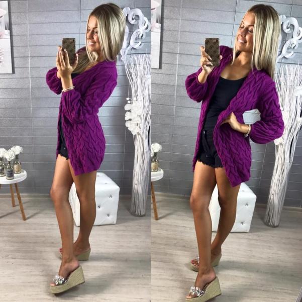 Luxusní svetr- fialová