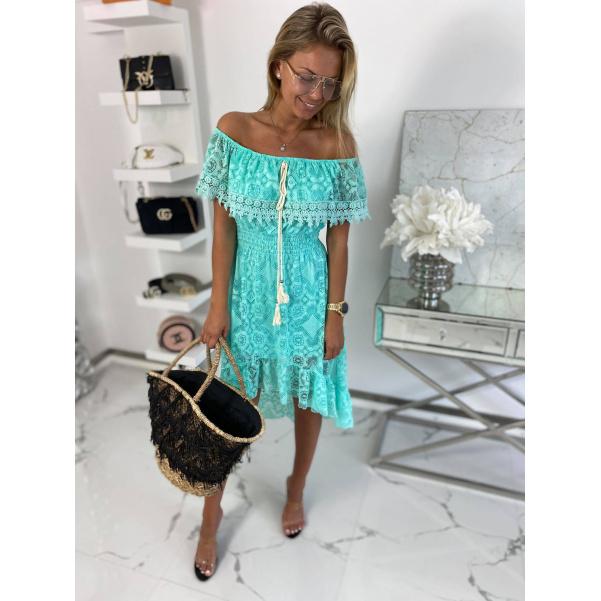 Šaty s krajkou Lucy mint