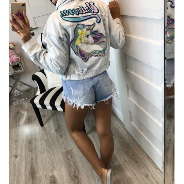 Super jeans bundička s unicornem