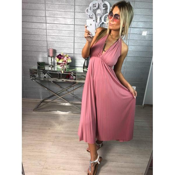 Luxusní pohodové šaty Luissa - pink
