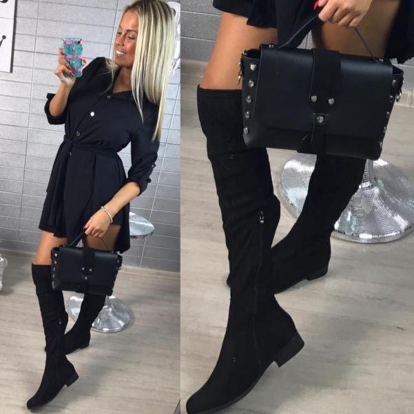 TOP  kožená kabelka černá