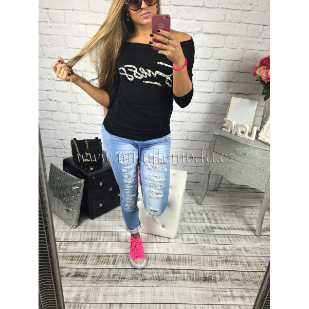 Tričko Guess BLACK