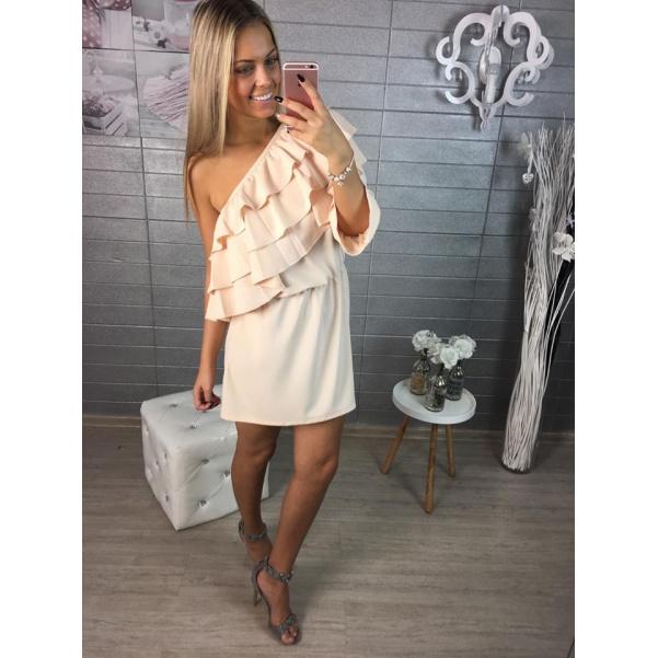 Tělové šaty s volánky Luxus