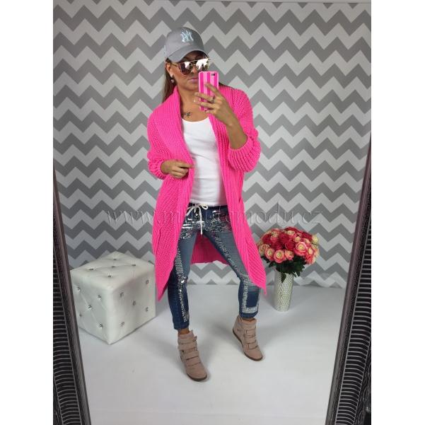Luxusní pink kabatosvetřík