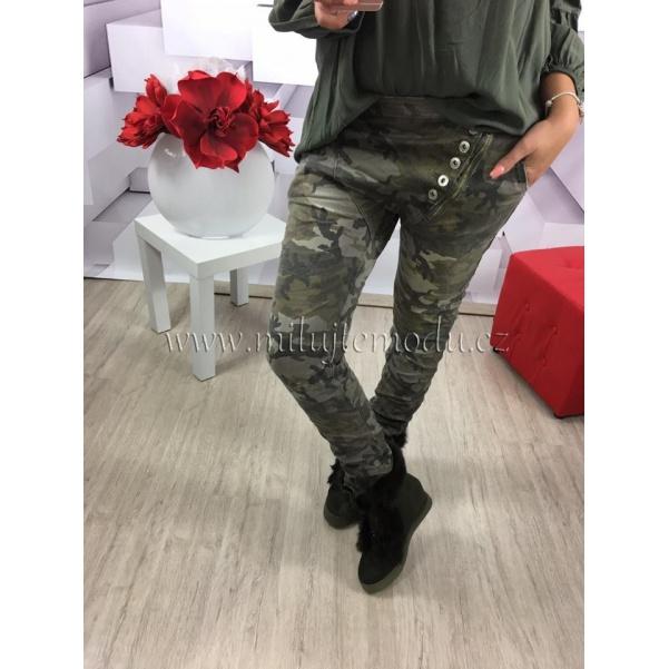 Army kalhoty s knoflíky