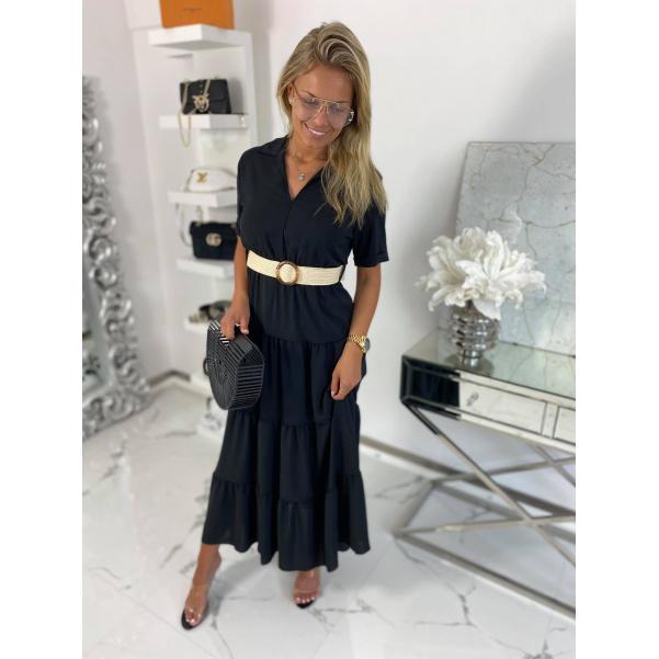 Long šaty Mella černé
