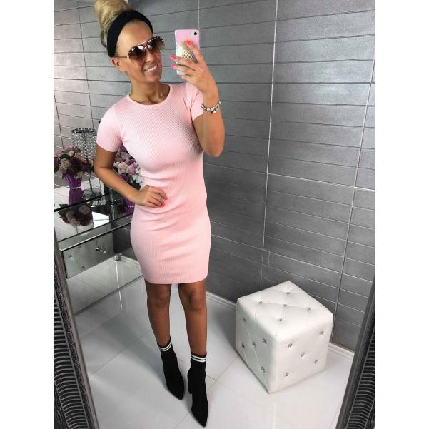 Svetříkové šaty růžové