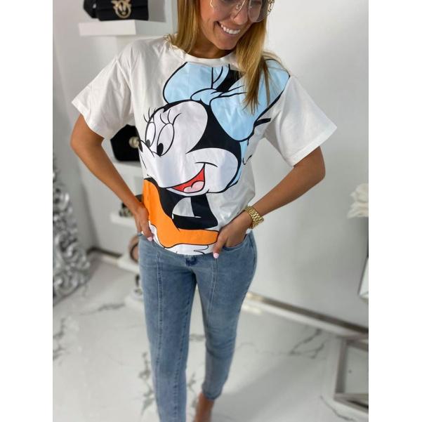 Tričko Mickey Mouse - bíle