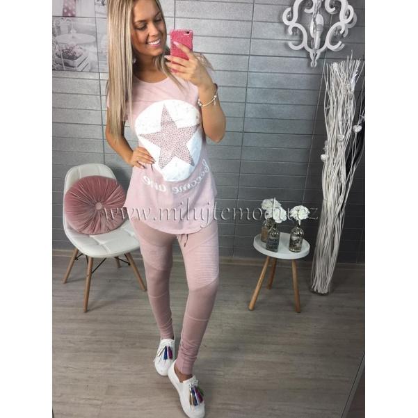 Růžové tričko s hvězdou