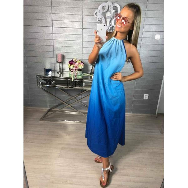 Long šaty modré