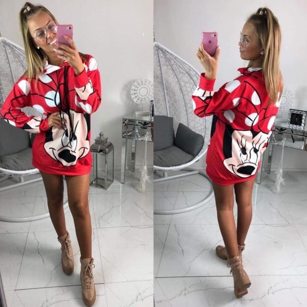 Mikinošaty Mickey červené
