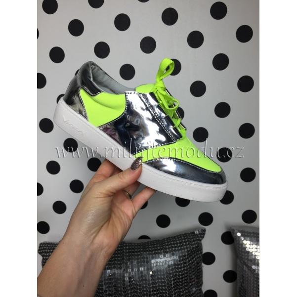 Zelené neon tenisky