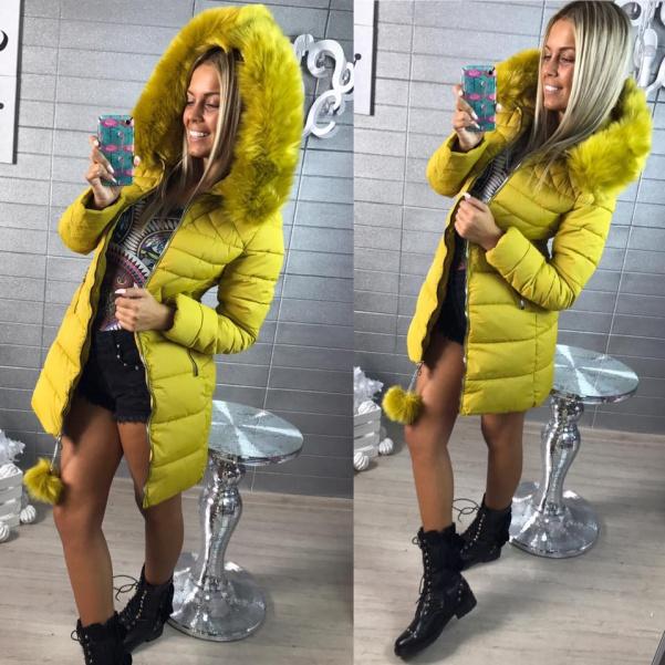 Zimní TOP bundička - žlutá