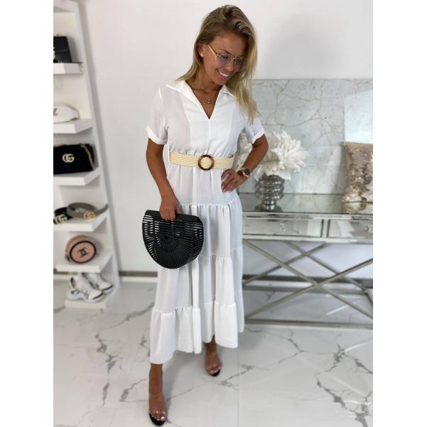 Long šaty Mella bílé