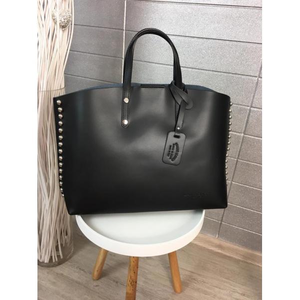 Černá kabelka - pravá kůže !!