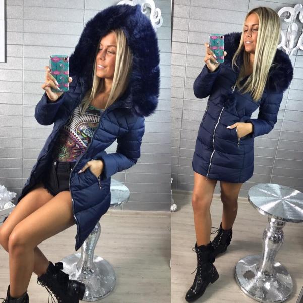 Zimní Top bundička -blue