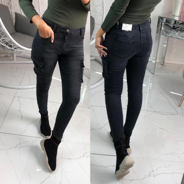 Kalhoty s kapsami černé