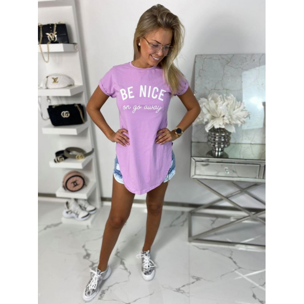 Tričko Be nice fialové