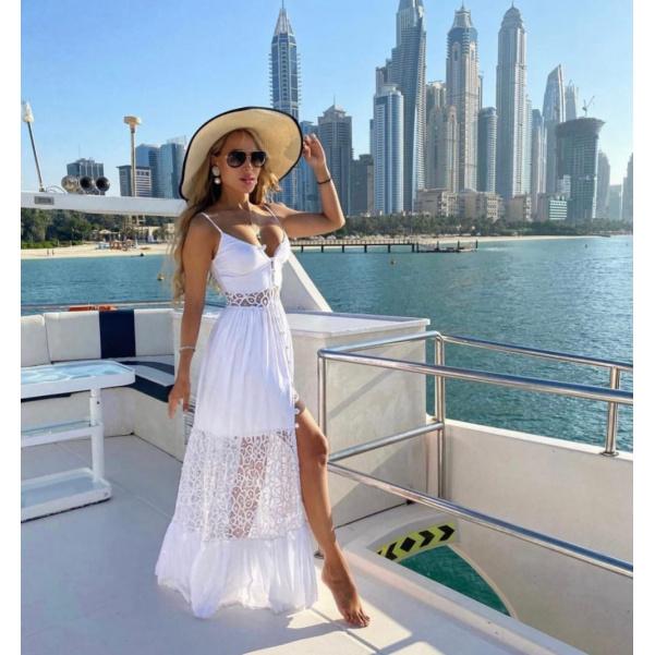 Romantické šaty na ramínka - IZA