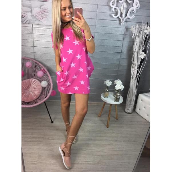 Růžové tunikošatičky s hvězdičkami