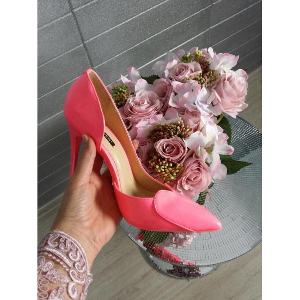 Top neon růžové lodičky