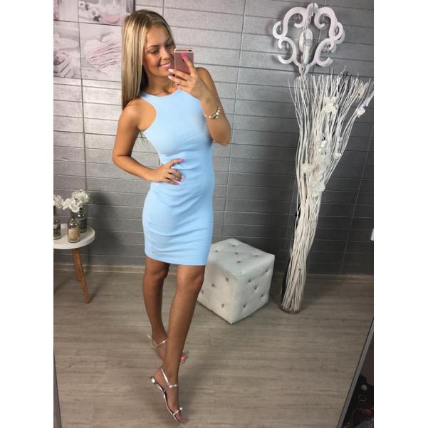 Slim modré šatičky