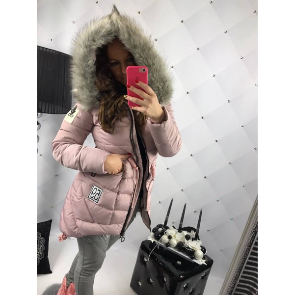 Pink zimní bundička