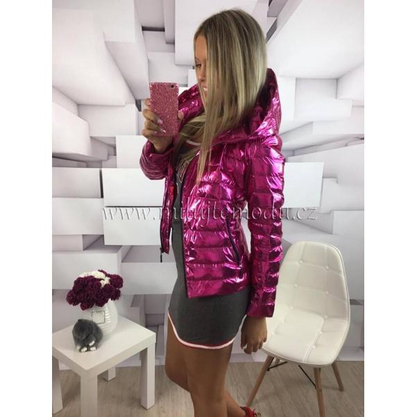 Pink bunda s kapucí