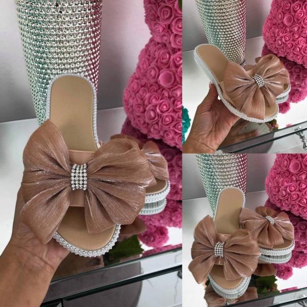 Super boty s mašlí růžové