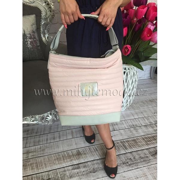 Růžová kabelka se zipem