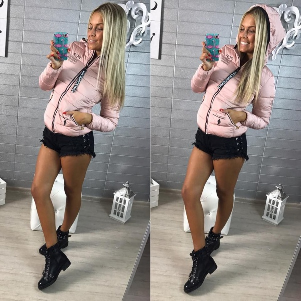 Sportovní bundička růžová