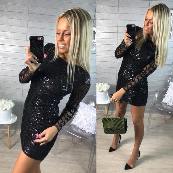 """Luxusní šaty """"ala Diamond"""" black"""