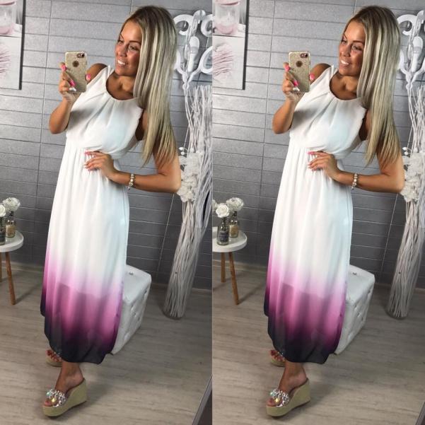 Šaty color - fialové