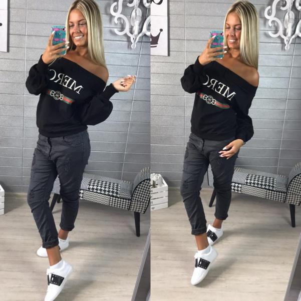 Mikinka ala Gucci - black