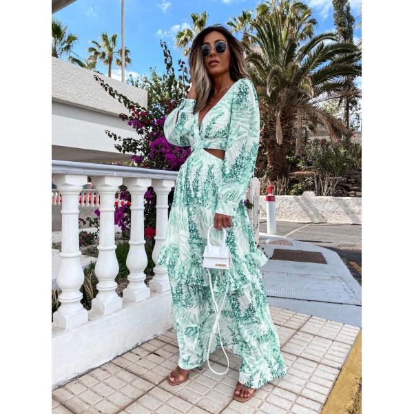 Luxusní šaty  - long GREEN