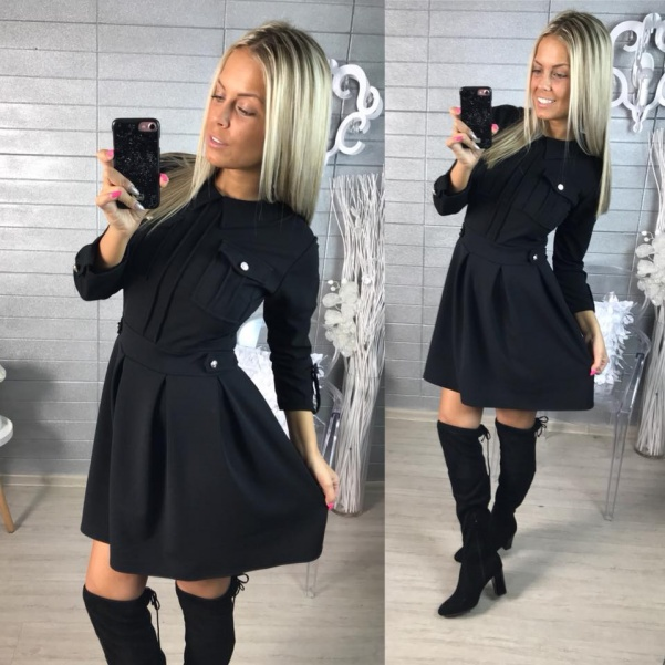 Krásné šatičky -Black