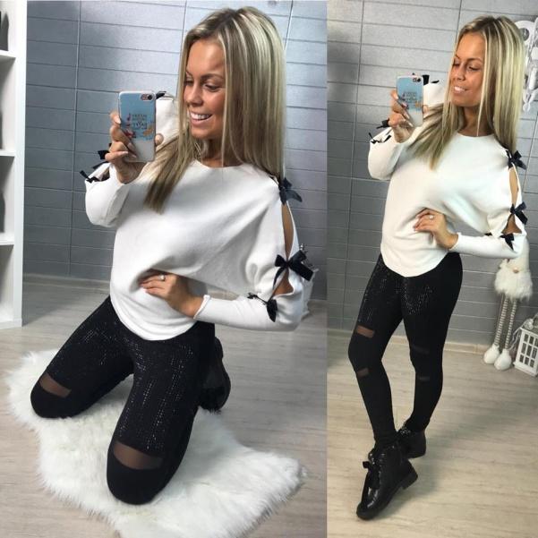 Mašličkový svetřík - bíla