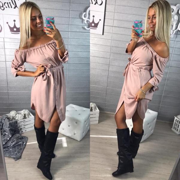 TOP košilošaty- PINK