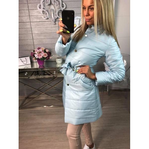 Kabátek s vázáním modrý