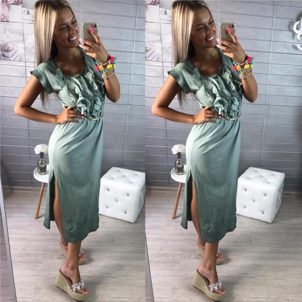 Maxi šaty - khaki