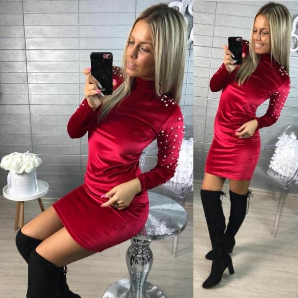 Šatičky s perličkami RED
