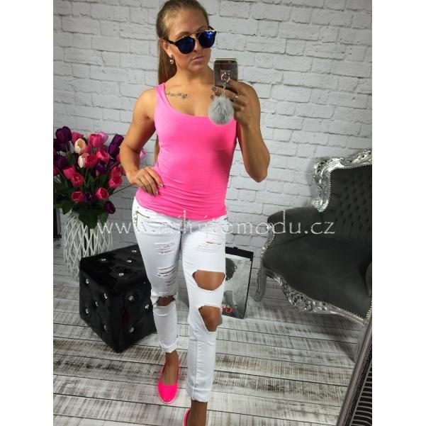 Růžové neon tílko