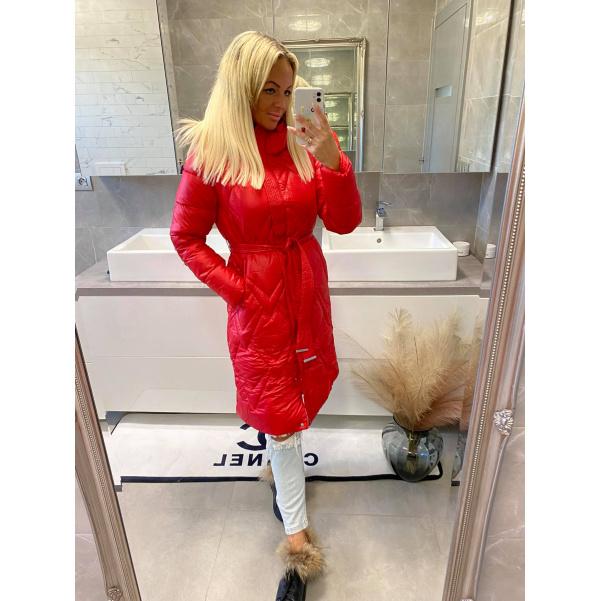 Kabát Luxy červený