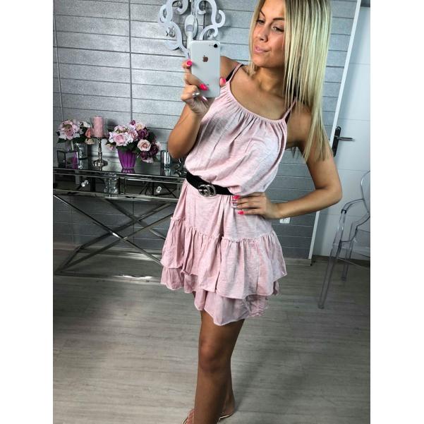 Bavlněné letní šatičky - pink