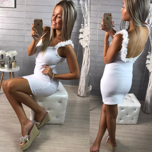 Šatičky Lala - white
