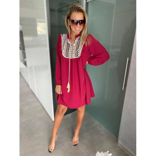 Šaty Melany bordo