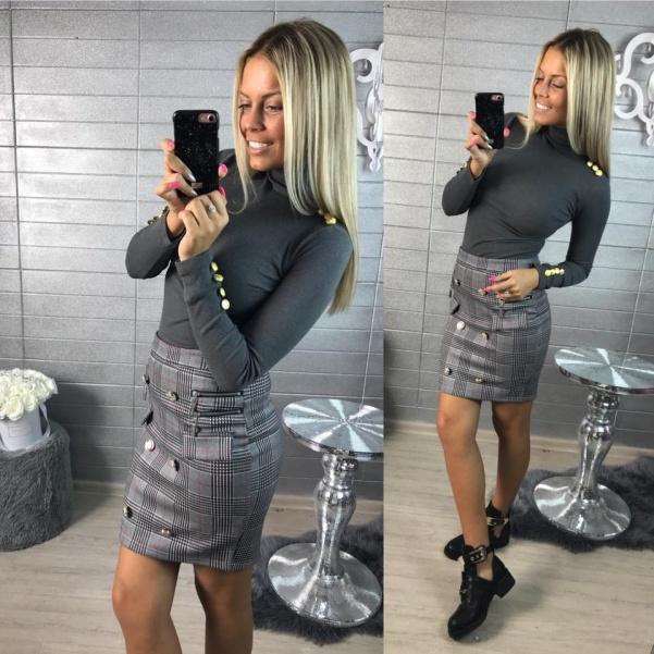 Elegantní gray suknička