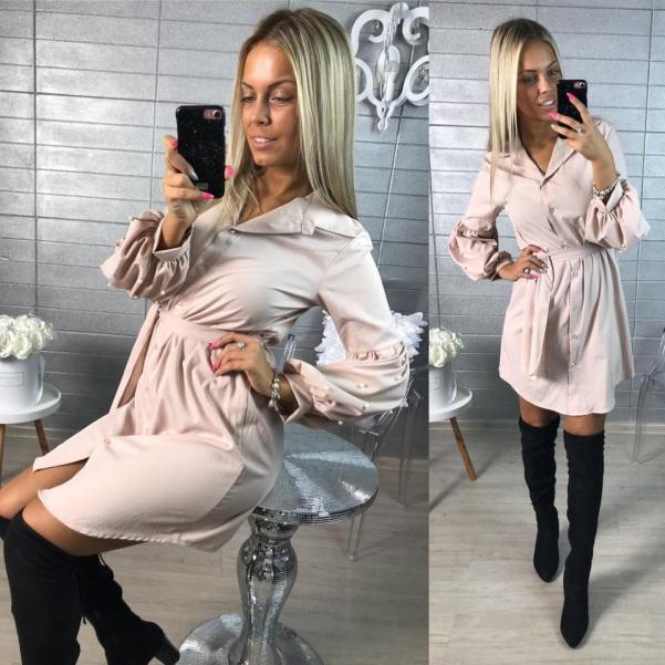 Košilové šaty pearl růžové