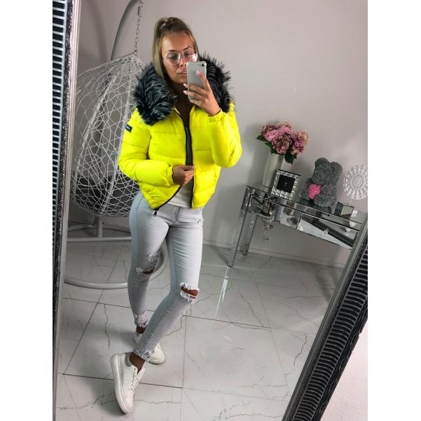 Zimní bunda  Yellov s bohatým kožichem