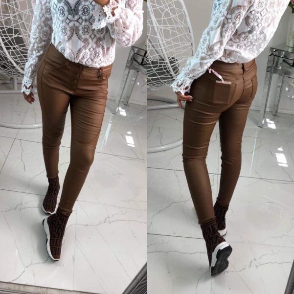 Perfektní kožené kalhoty - Camel